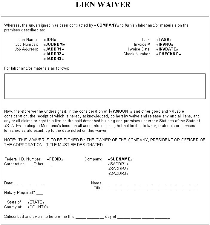 TACTWORKS – Waiver Template Word